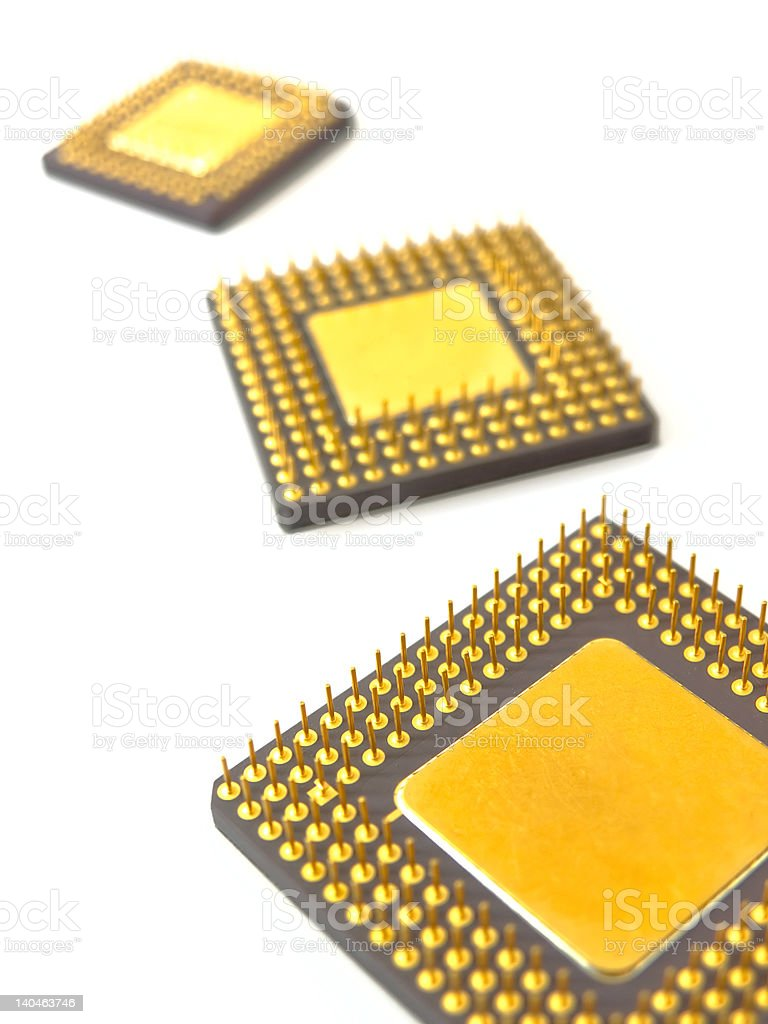 Processors range, shallow DoF stock photo