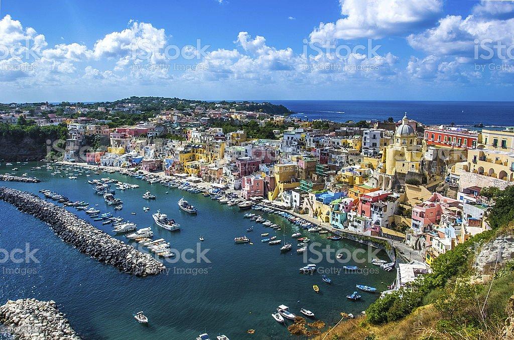 Procida beautiful island stock photo