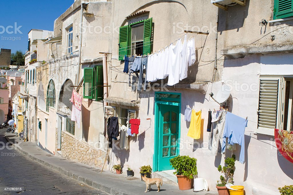 Procida, Fisherman's Village 'La Corricella', Bay of Naples stock photo