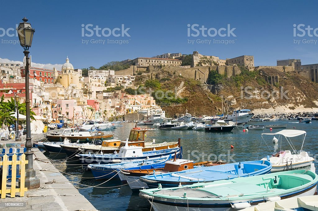 Procida harbour royalty-free stock photo