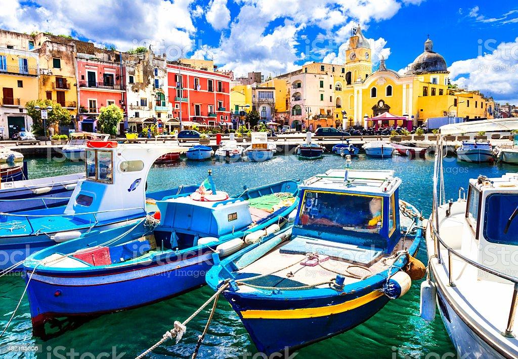 Procida Island,Campania,Italy. stock photo