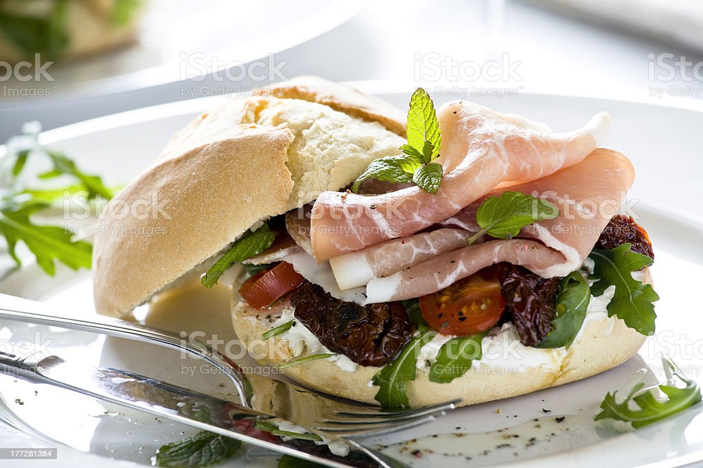 Prociutto Sandwich stock photo