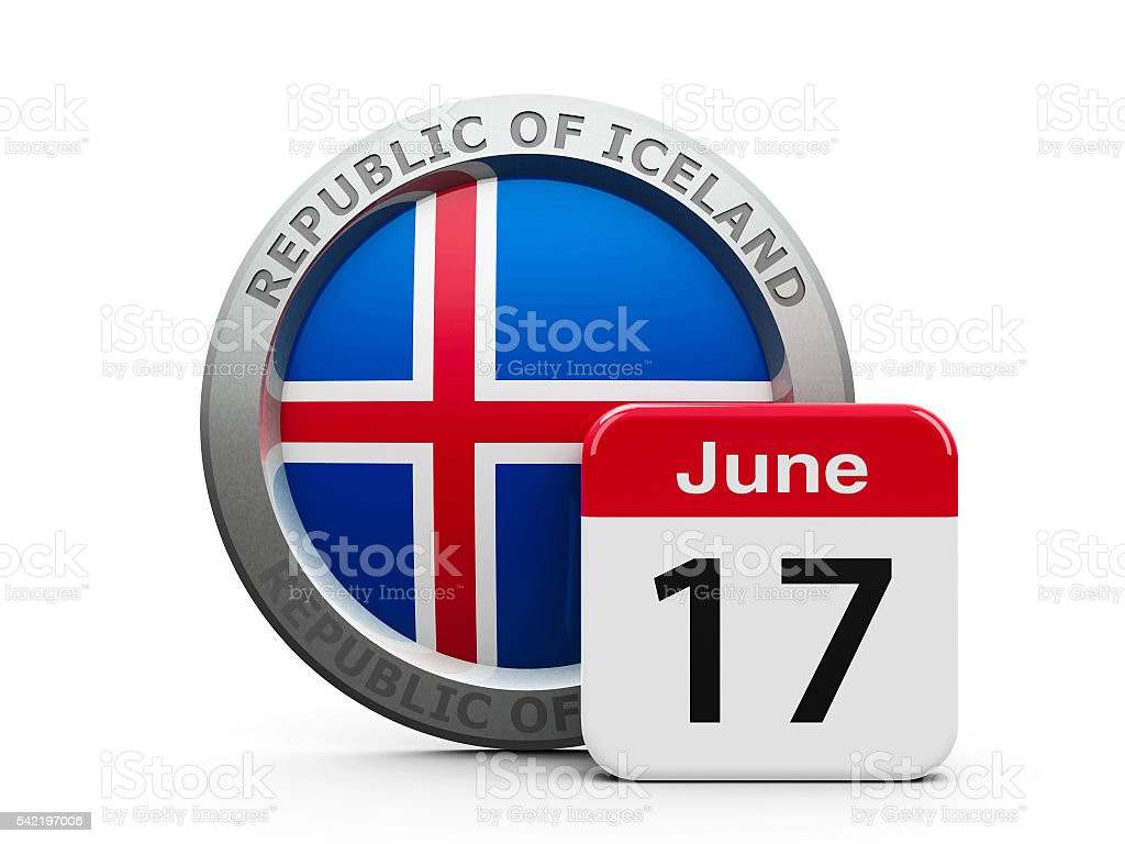 Proclamation of the Republic Iceland stock photo