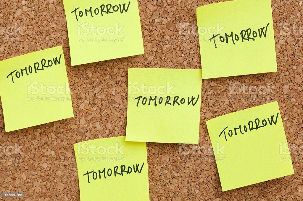 Procrastination stock photo