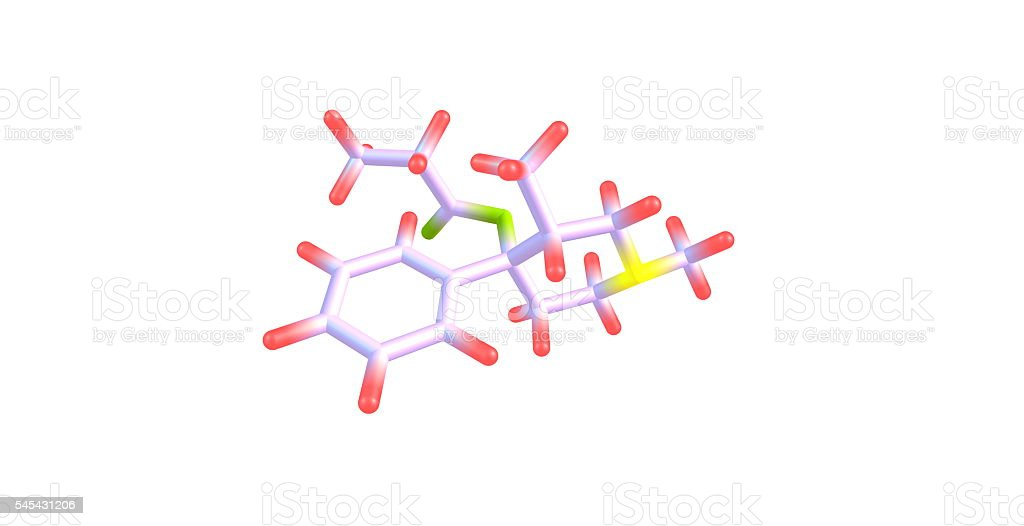 Prodine molecular structure isolated on white stock photo