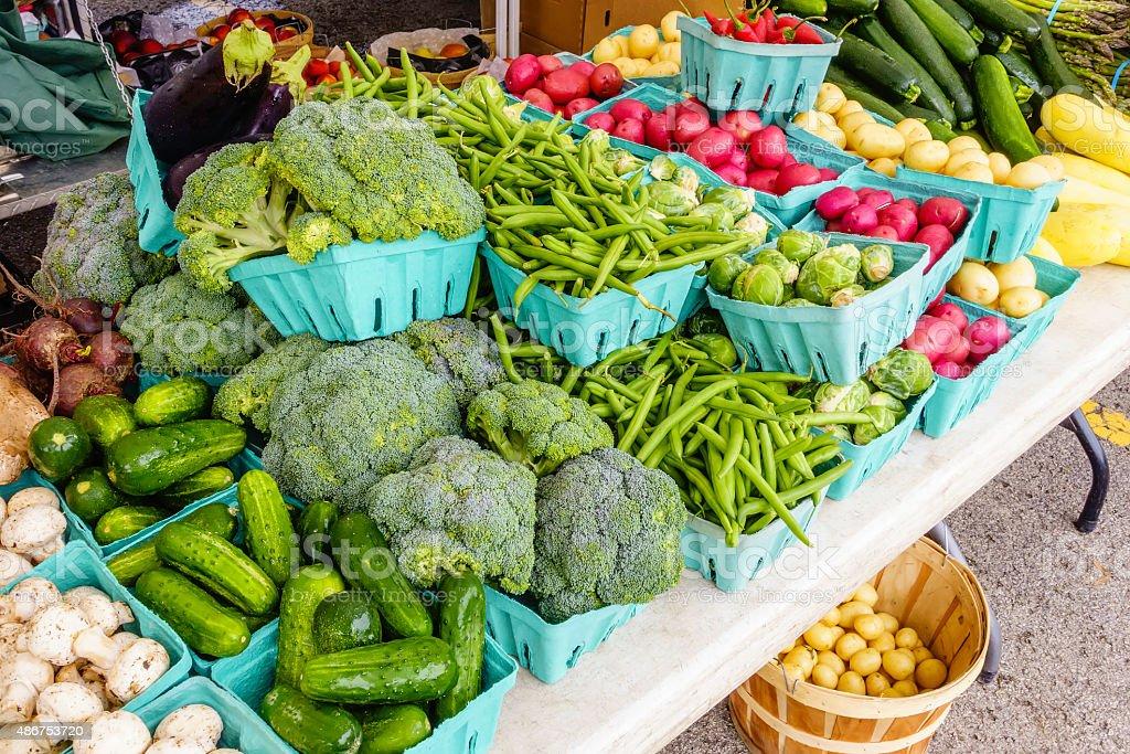 Produce at farmer's market stock photo