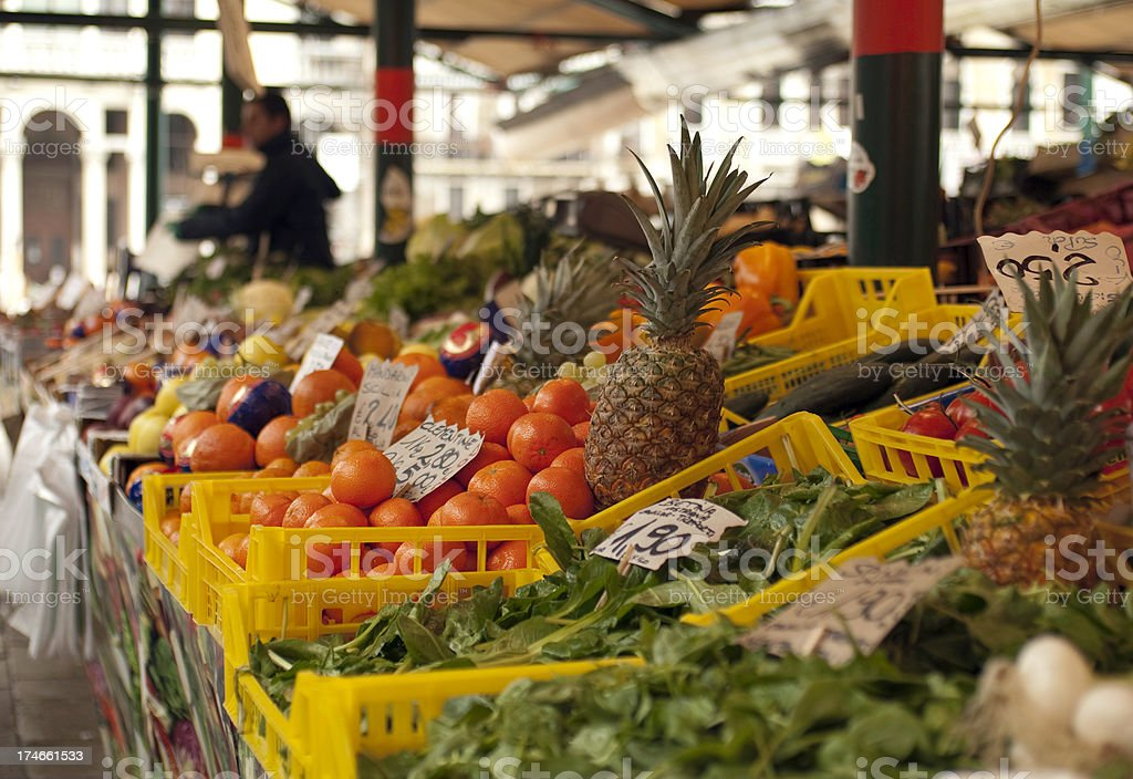 Produce for sale at an Italian market royalty-free stock photo