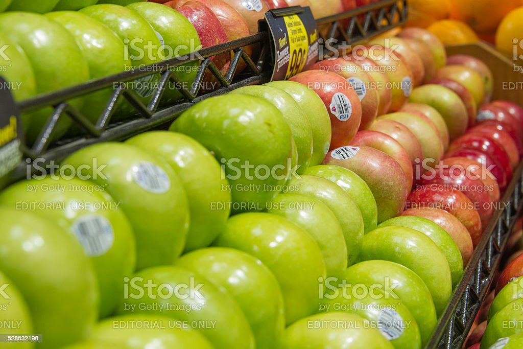 Produce - Granny Smith Apples in Foreground stock photo