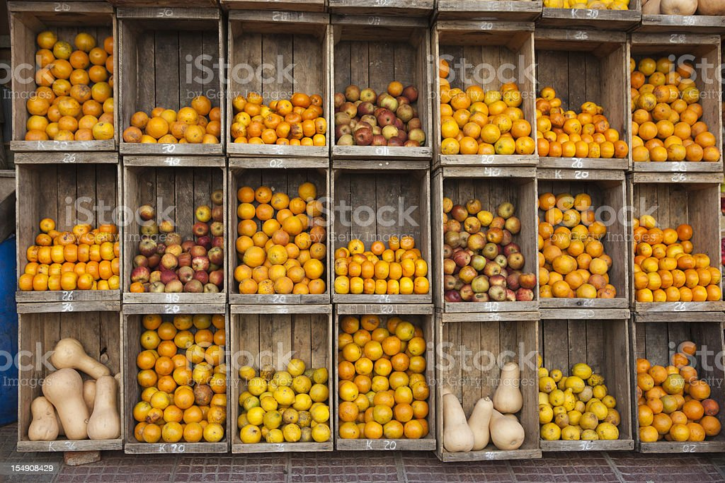 Produce Stand Street Market, Buenos Aires Argentina royalty-free stock photo