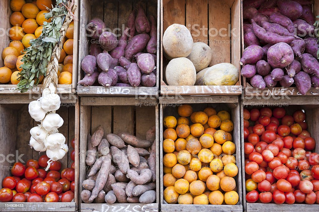 Produce Stand Street Market, Buenos Aires Argentina stock photo