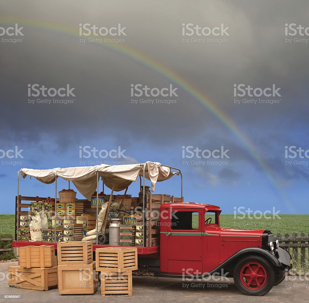 Produce Truck stock photo