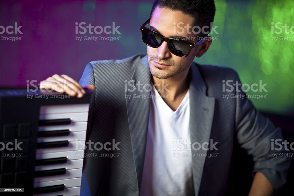 Producer with Piano stock photo