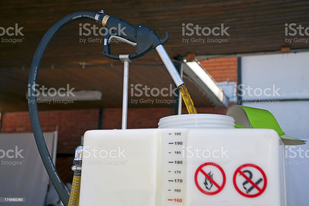 Producing of biodiesel royalty-free stock photo