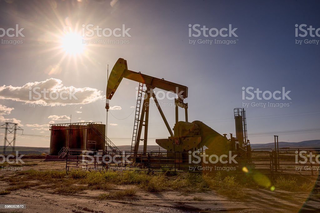 KW Producing Oil And Gas In The Colorado Desert stock photo