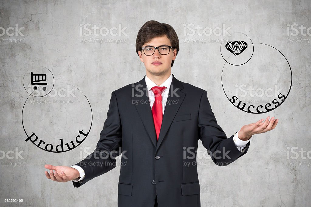 product and success stock photo