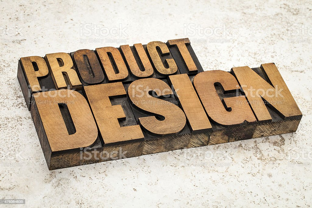 product  design in wood type royalty-free stock photo