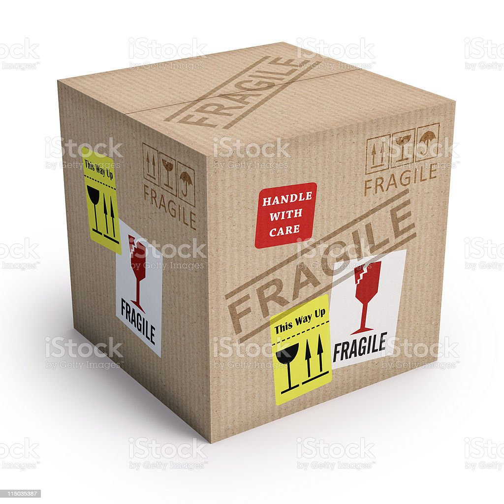 Product Fragile royalty-free stock photo
