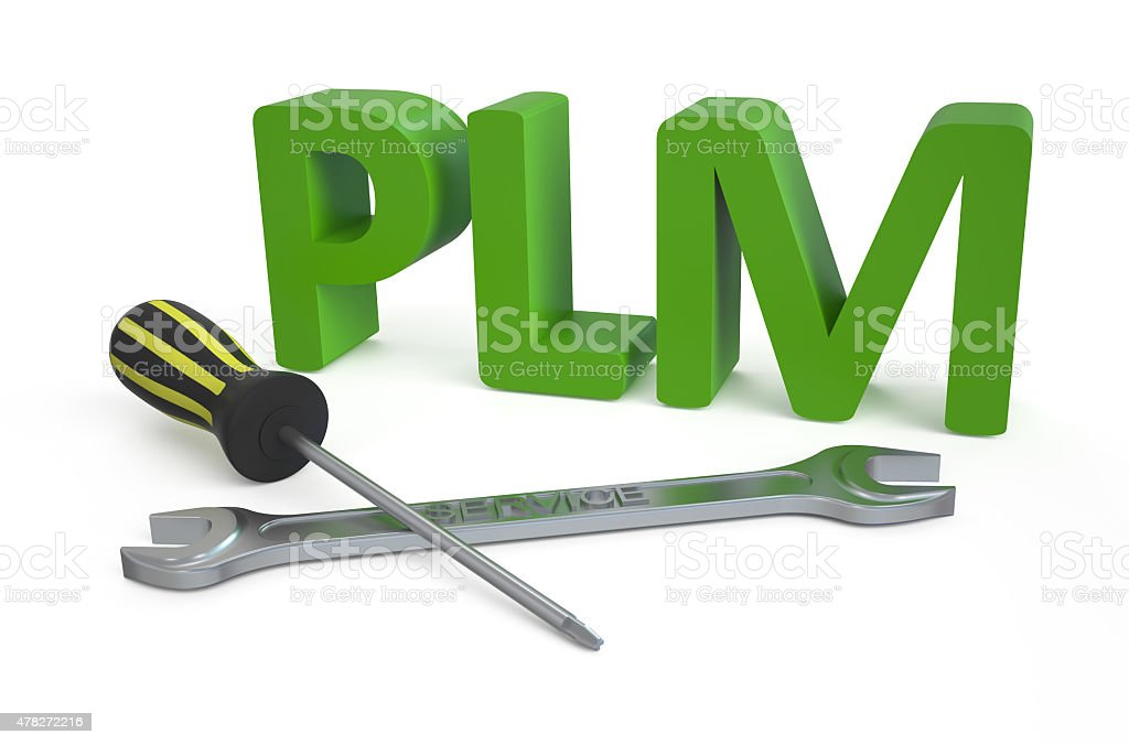 product lifecycle management (PLM) service concept stock photo