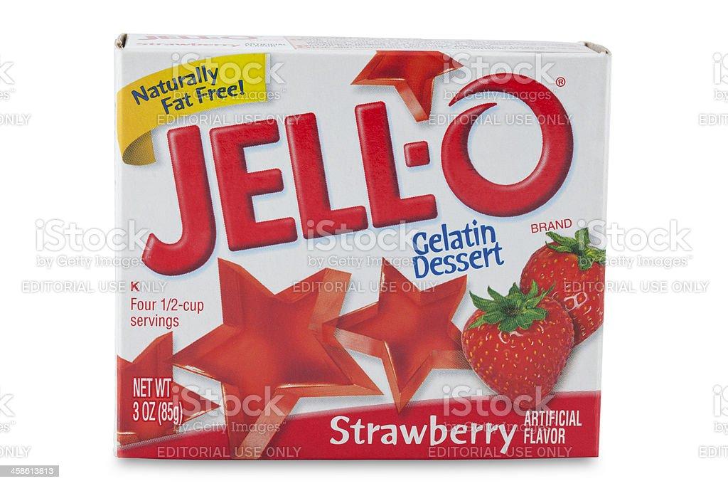 Product shot of Jello brand Gelatin stock photo