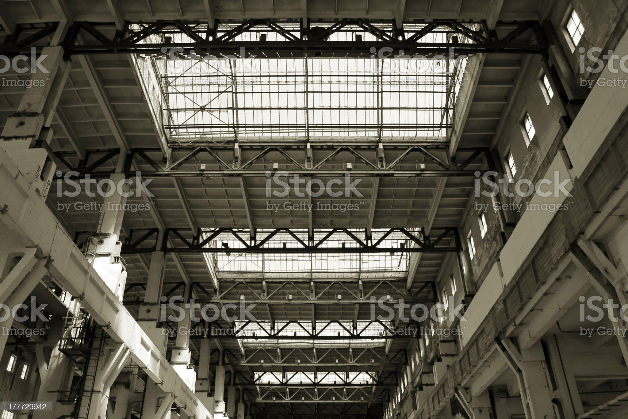 Production hall royalty-free stock photo