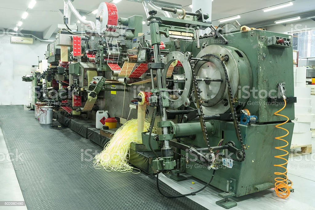 Production Line for Print label; stock photo