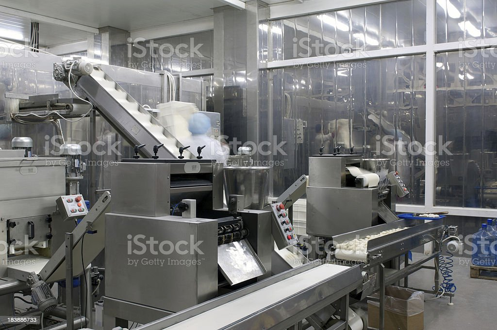 Production line in the food factory. royalty-free stock photo