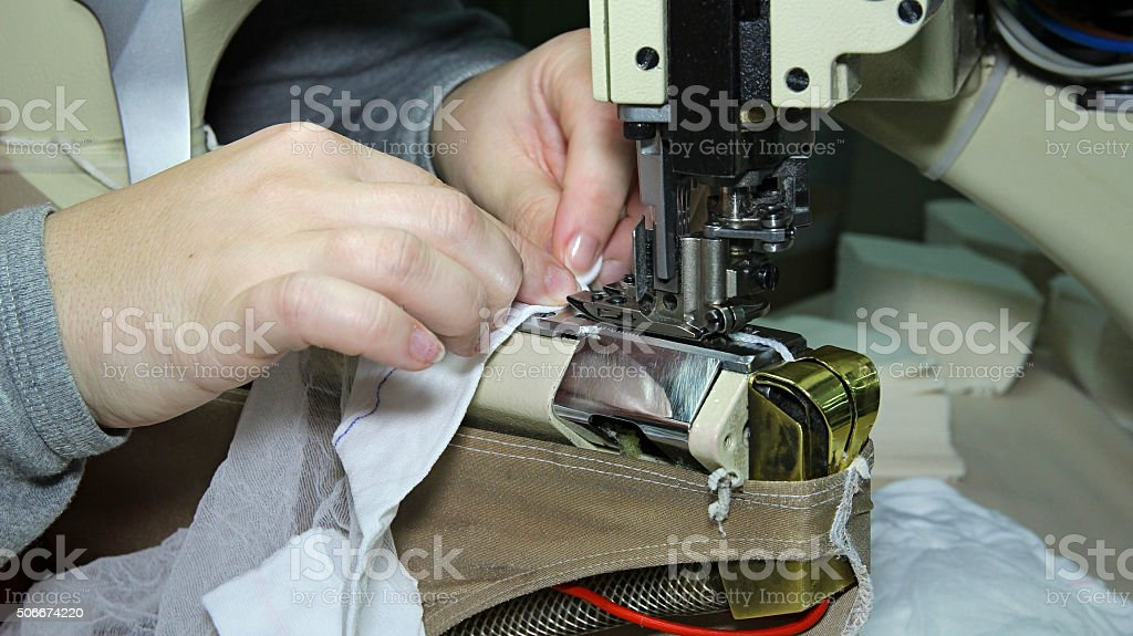 Production Line of a Garment Factory stock photo