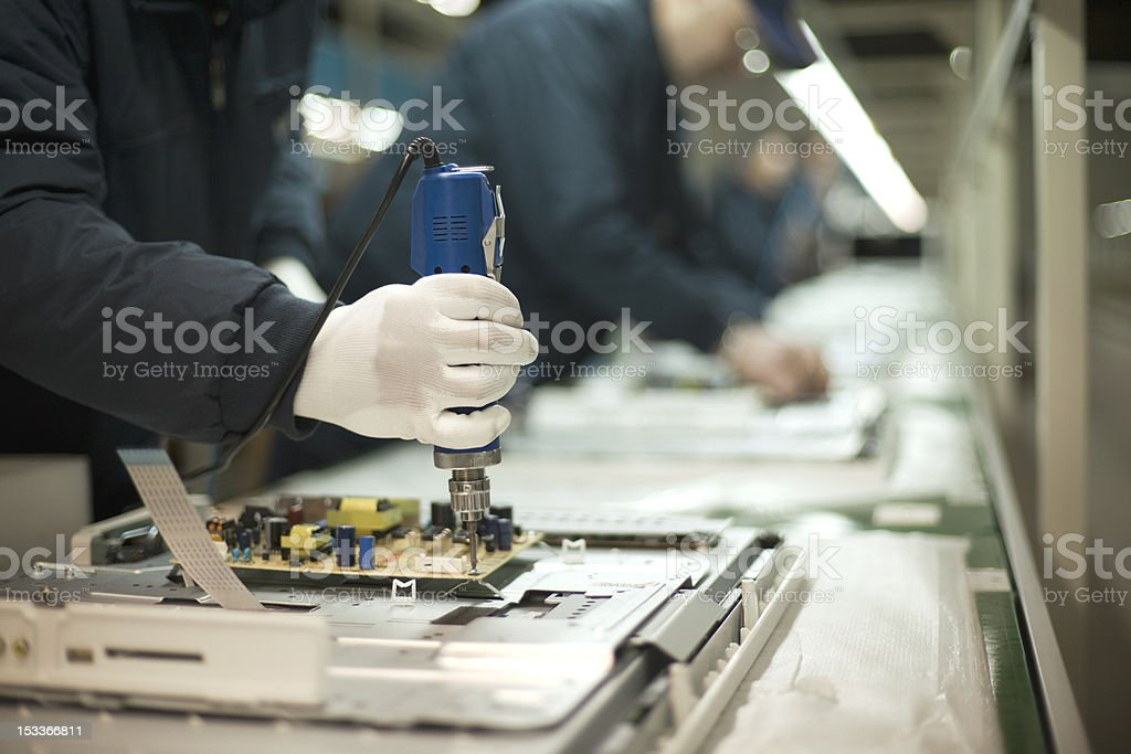 Production line stock photo