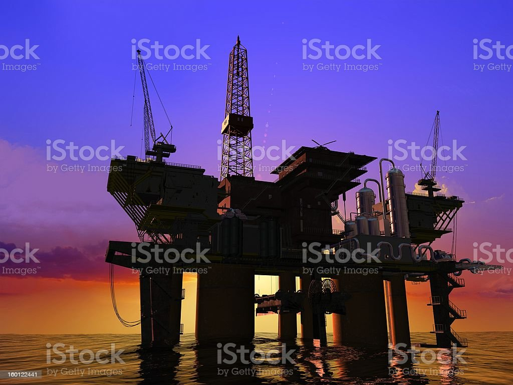 Production of petroleum royalty-free stock photo