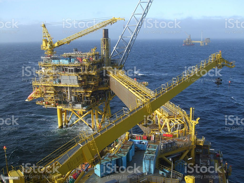 Production Platform Complex stock photo