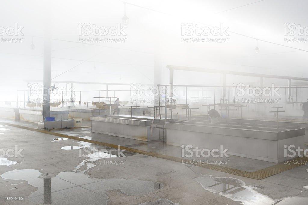 Production process of Yuba stock photo