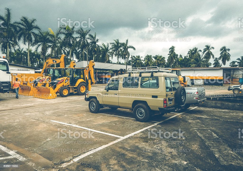 Production site. Industry in Liberia stock photo