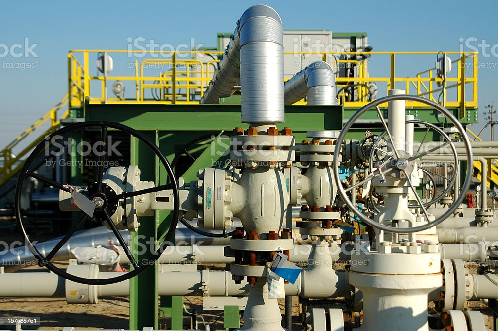 Production sub station royalty-free stock photo