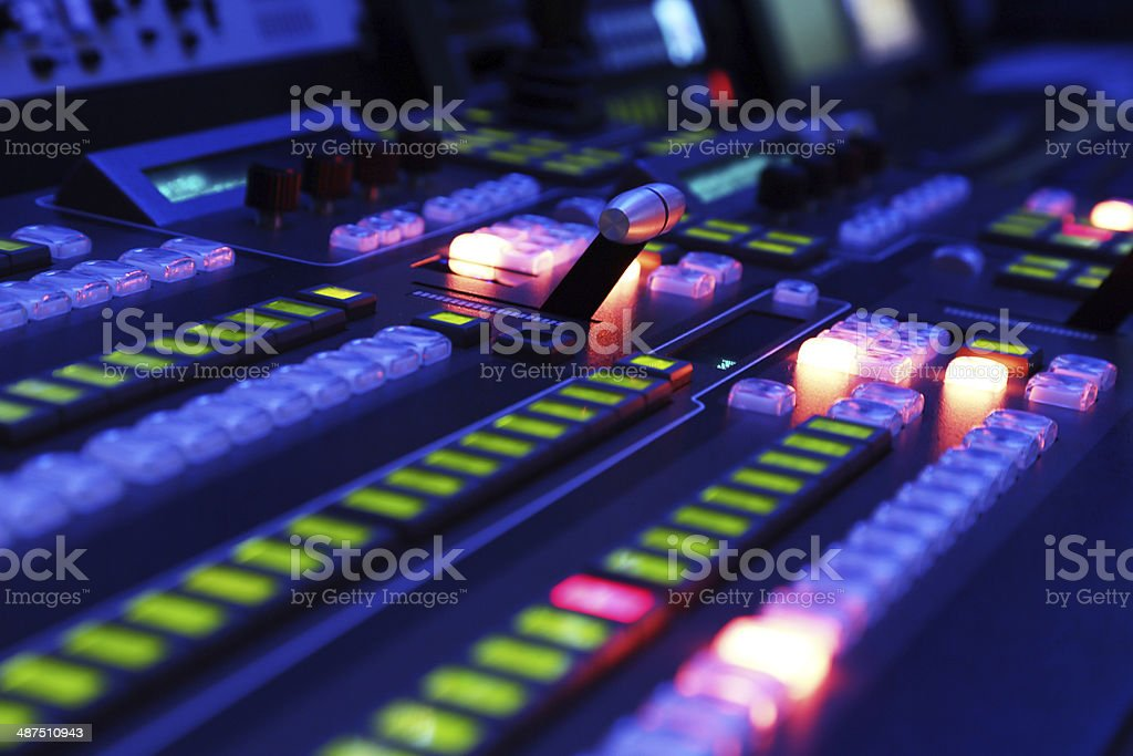 Production Switcher stock photo