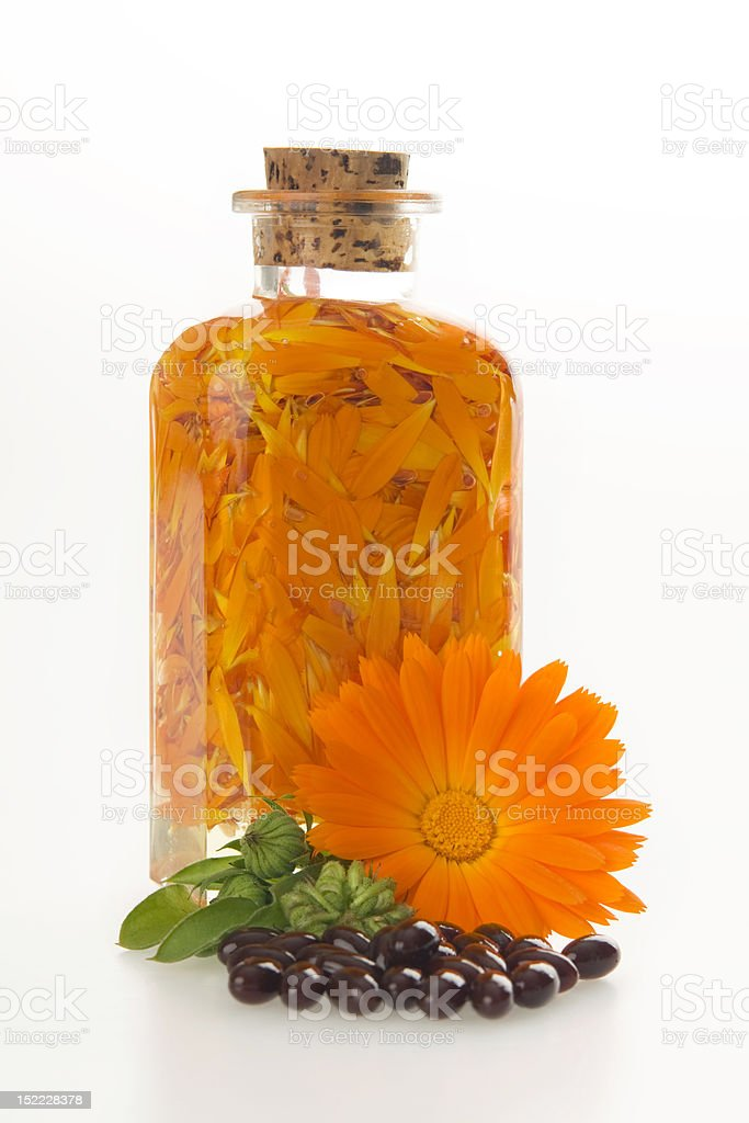 Productions from marigold medical. stock photo