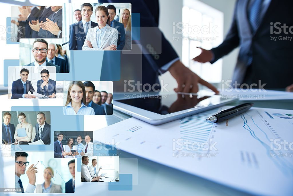 Productive business cooperation stock photo