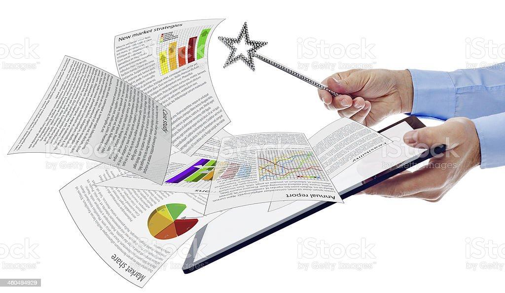 Productivity business concept stock photo