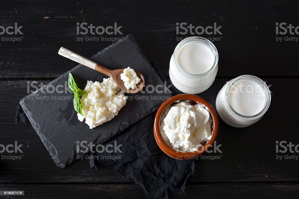 products that come from the kefir stock photo