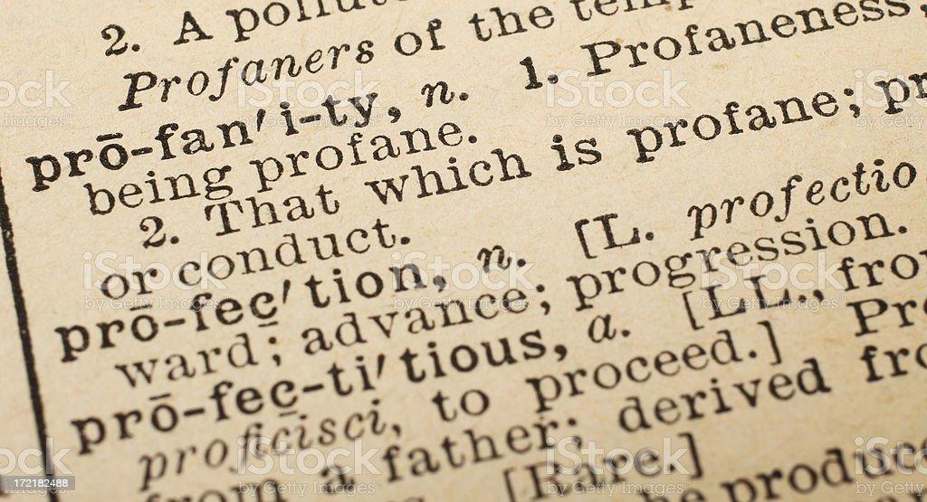 Profanity Dictionary Definition royalty-free stock photo