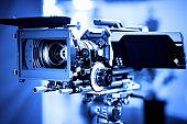 Professional 4k production video camera in studio