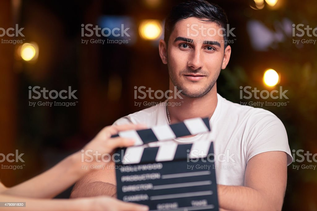 Professional Actor Ready for a Shoot stock photo