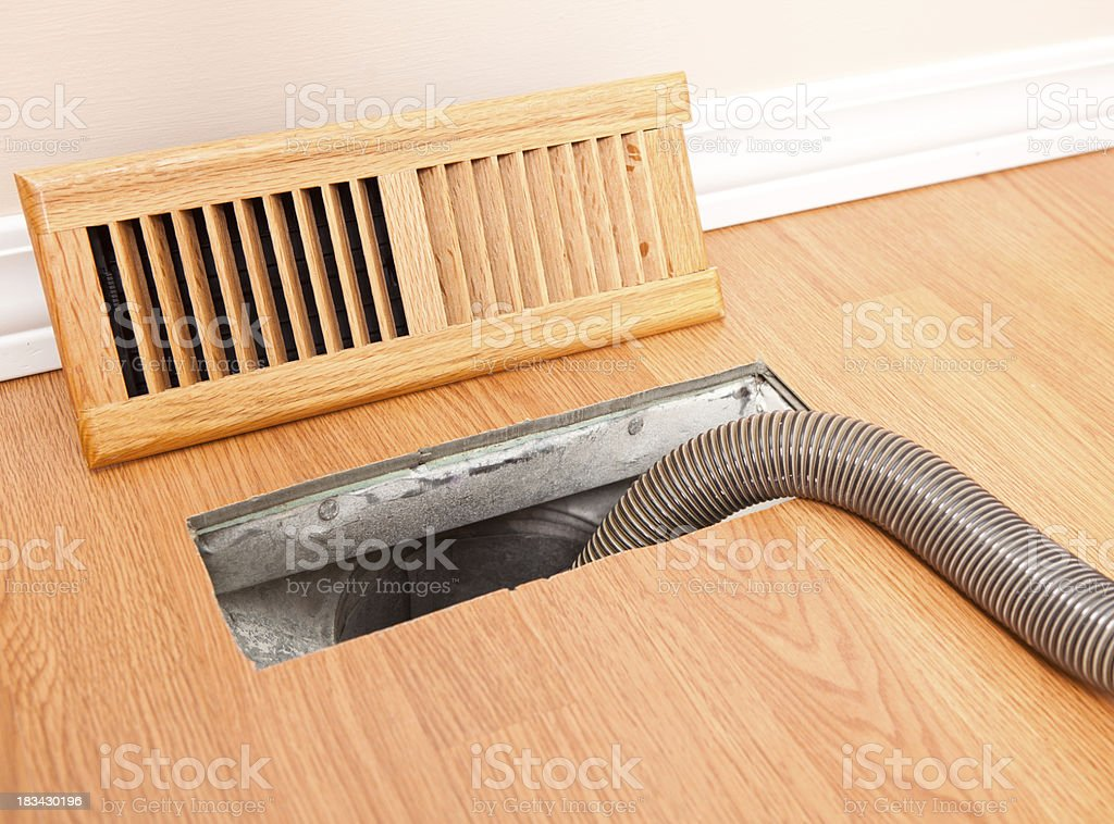 Professional Air Duct Cleaning royalty-free stock photo