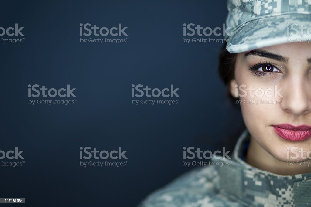 Professional American Soldier stock photo