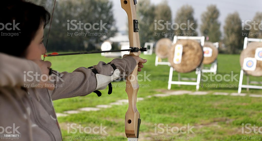 professional archer royalty-free stock photo