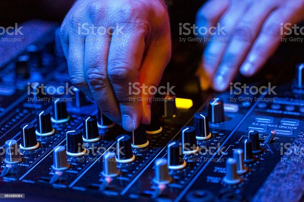 Professional audio mixer equipment stock photo