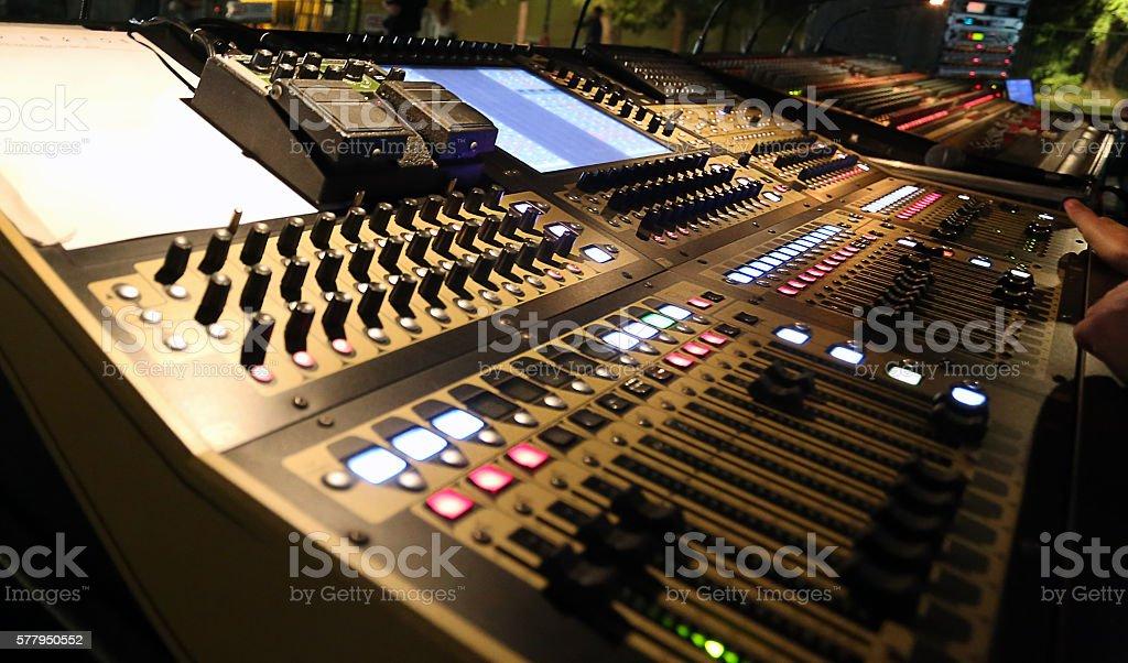 Professional audio mixer equipment