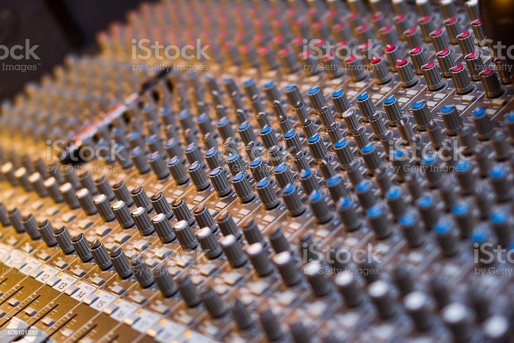 Professional audio musical mixer stock photo