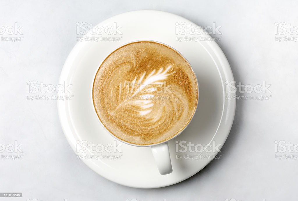 professional barista coffee cup stock photo