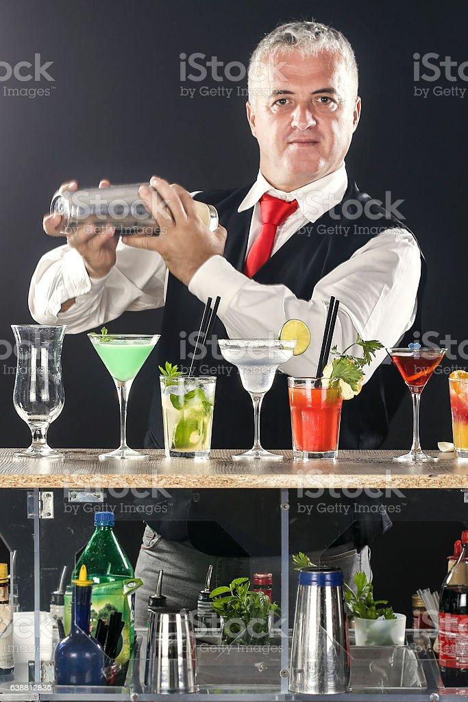 Professional bartender stock photo