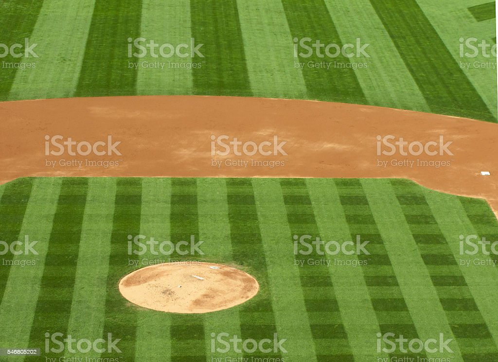 Professional basebal field stock photo